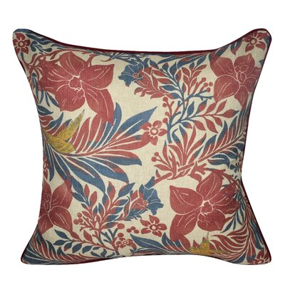 Flower Throw Pillow Color: Red
