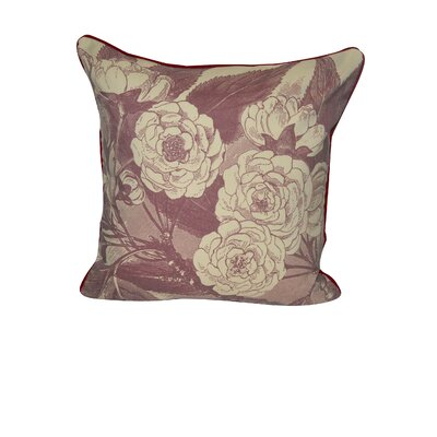 Roses Decorative Throw Pillow Color: Dark Red