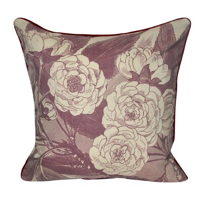 Roses Decorative Throw Pillow Color: Brown