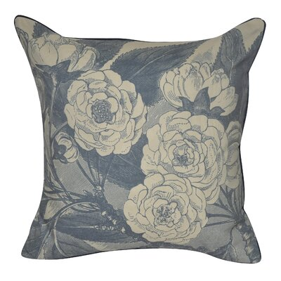 Roses Decorative Throw Pillow Color: Dark Blue