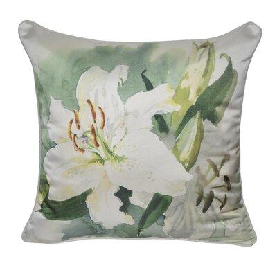 Satin Lily Decorative Throw Pillow