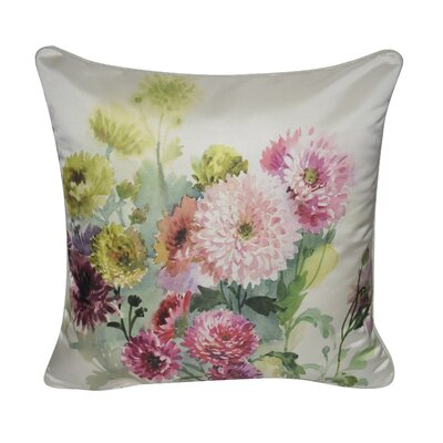 Satin Dahlias Decorative Throw Pillow
