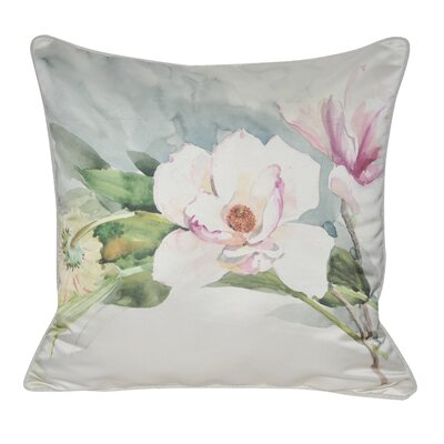 Satin Magnolia Decorative Throw Pillow
