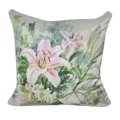 Satin Lily Decorative Throw Pillow