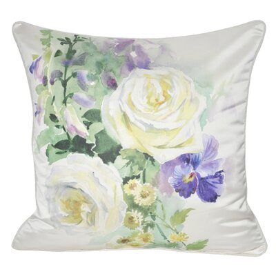 Satin Roses Decorative Throw Pillow