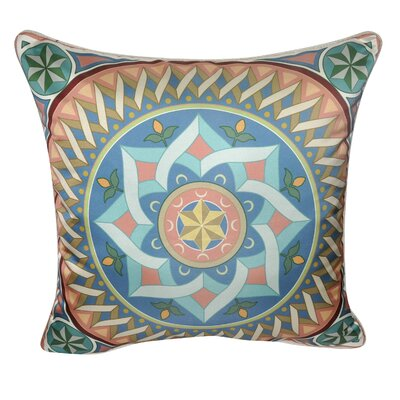 Satin Star Flower Decorative Throw Pillow