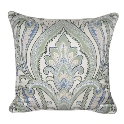 Satin Paisley Decorative Throw Pillow