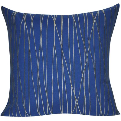 Branch Throw Pillow Color: Dark Blue
