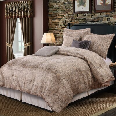 Joelle 7 Piece Comforter Set Size: Queen