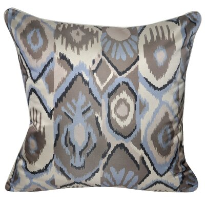 Satin Southwest Ikat Polyster Throw Pillow Color: Ash
