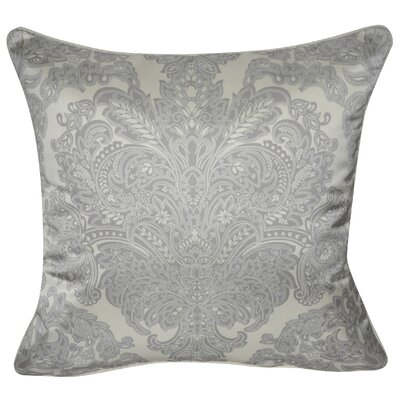 Satin Damask Polyster Throw Pillow Color: Charcoal