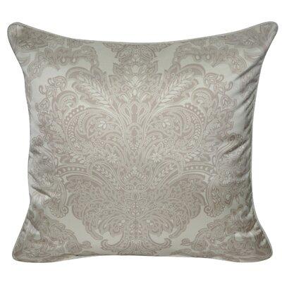 Satin Damask Polyster Throw Pillow Color: Tan