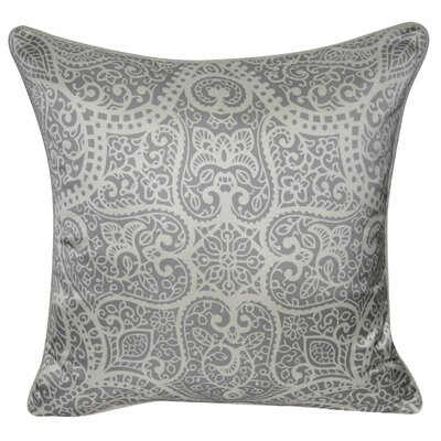 Satin Baroque Polyster Throw Pillow Color: Charcoal