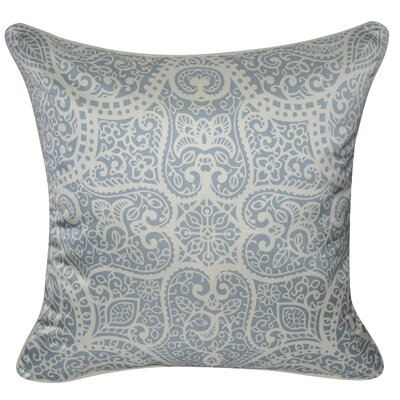 Satin Baroque Polyster Throw Pillow Color: Light Blue