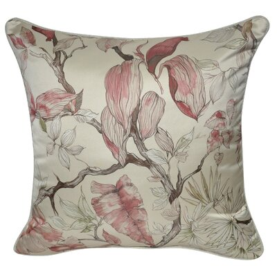 Satin Branches Polyster Throw Pillow Color: Pink