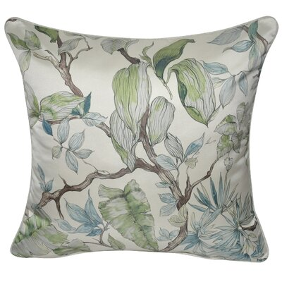 Satin Branches Polyster Throw Pillow Color: Sage