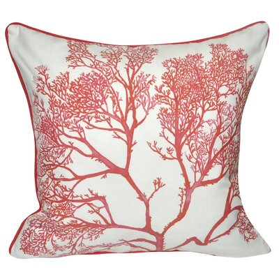 Coral Polyster Throw Pillow