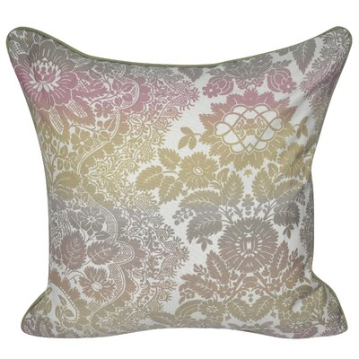 Floral Ombre Polyster Throw Pillow Color: Sage