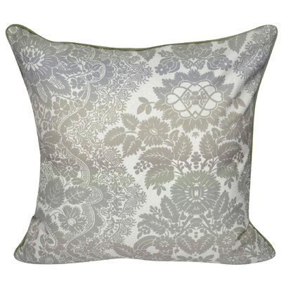 Floral Ombre Polyster Throw Pillow Color: Taupe