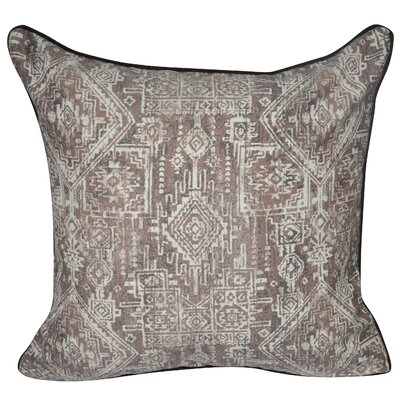 Denim Southwest Polyster Throw Pillow Color: Brown