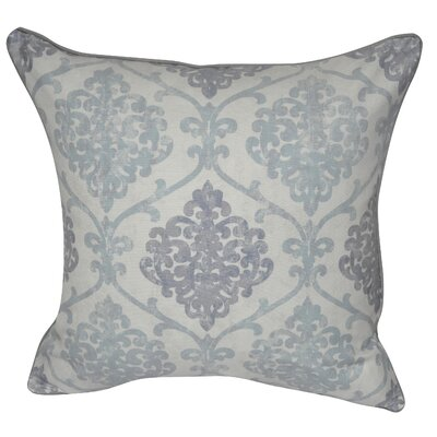 Stamped Trelis Polyster Throw Pillow Color: Light Blue