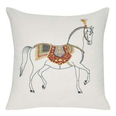 Versaille Cotton Throw Pillow Color: Gold