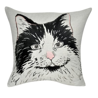 Carissa Long Hair Cat Throw Pillow