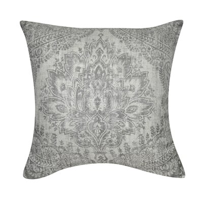 Federico Distressed Damask Throw Pillow