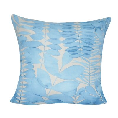 Leaf Decorative I Throw Pillow Color: Blue