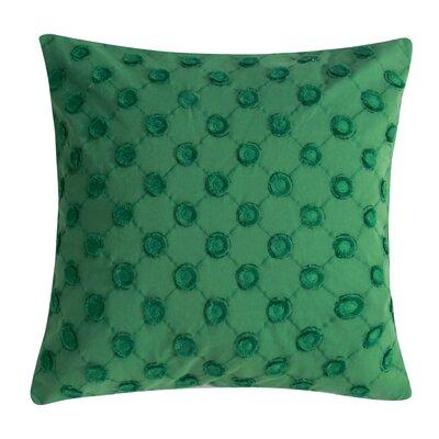 Polka Dot Decorative 100% Cotton Throw Pillow Color: Green