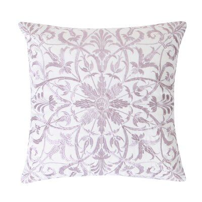 Baroque Floral 100% Cotton Throw Pillow Color: Lavender