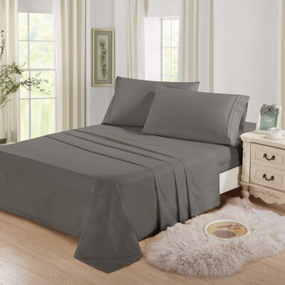 Cascio Microfiber 4 Piece Sheet Set Size: Full, Color: Gray