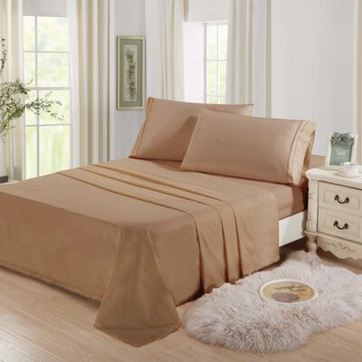Cascio Microfiber 4 Piece Sheet Set Size: Twin, Color: Brown