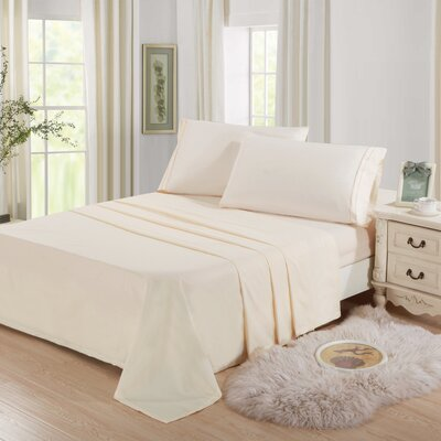 Cascio Microfiber 4 Piece Sheet Set Size: Twin, Color: Ivory