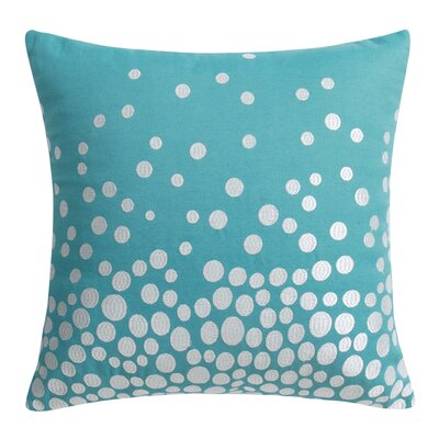 Fading Circles Decorative Throw Pillow Color: Blue