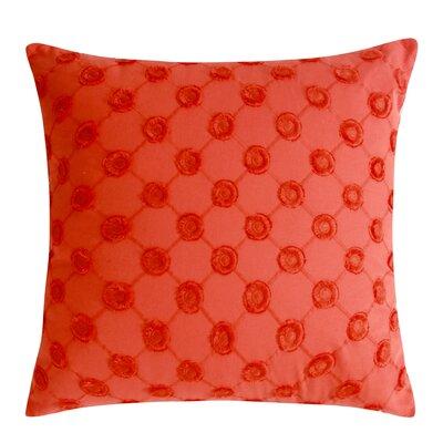 Polka Dot Decorative 100% Cotton Throw Pillow Color: Orange