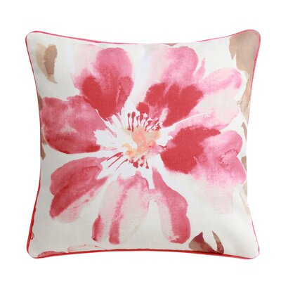 Super Flower 100% Polyester Throw Pillow Color: Red