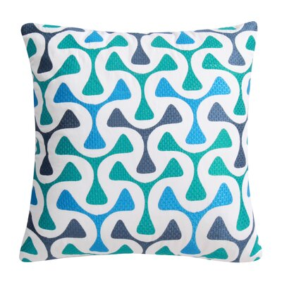 Bomerang 100% Cotton Throw Pillow Color: Blue