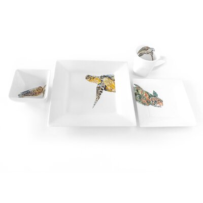 Furniture-Majestic Turtle 4 Piece Place Setting
