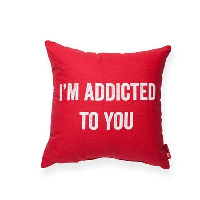 Expressive Addicted To You Throw Pillow Color: Red