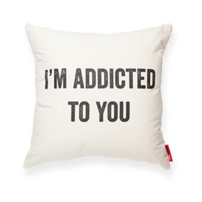 Expressive Addicted To You Cotton Throw Pillow (Set of 2)