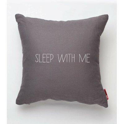 Expressive Sleep with Me Throw Pillow