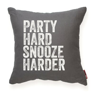 Expressive Party Hard Snooze Harder Throw Pillow