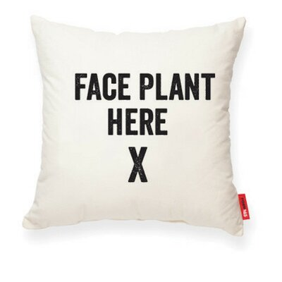 Expressive Face Plant Here Cotton Throw Pillow
