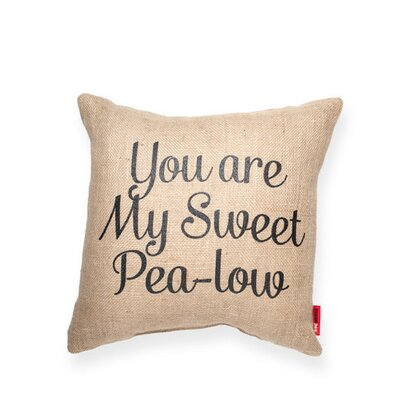 Expressive Pea-Low Jute Burlap Throw Pillow