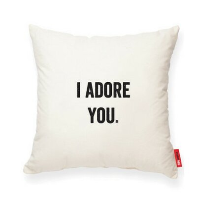 Expressive I Adore You Cotton Throw Pillow