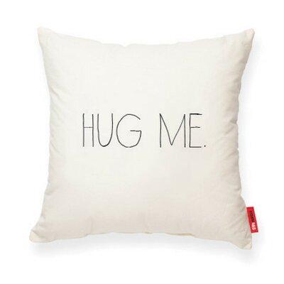 Expressive Hug Me Cotton Throw Pillow