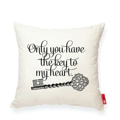 Luxury Vintage Key Cotton Throw Pillow