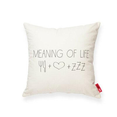 Expressive Meaning of Life Cotton Throw Pillow