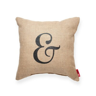 Almonte Ampersand Burlap Jute Throw Pillow
